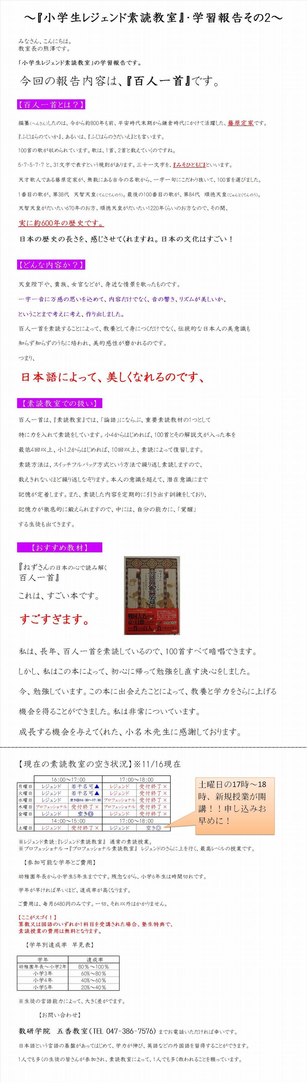 HP素読その4報告2百人一首1